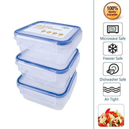 Clip Lock Food Storage Containers Keep Food Fresh For Longer