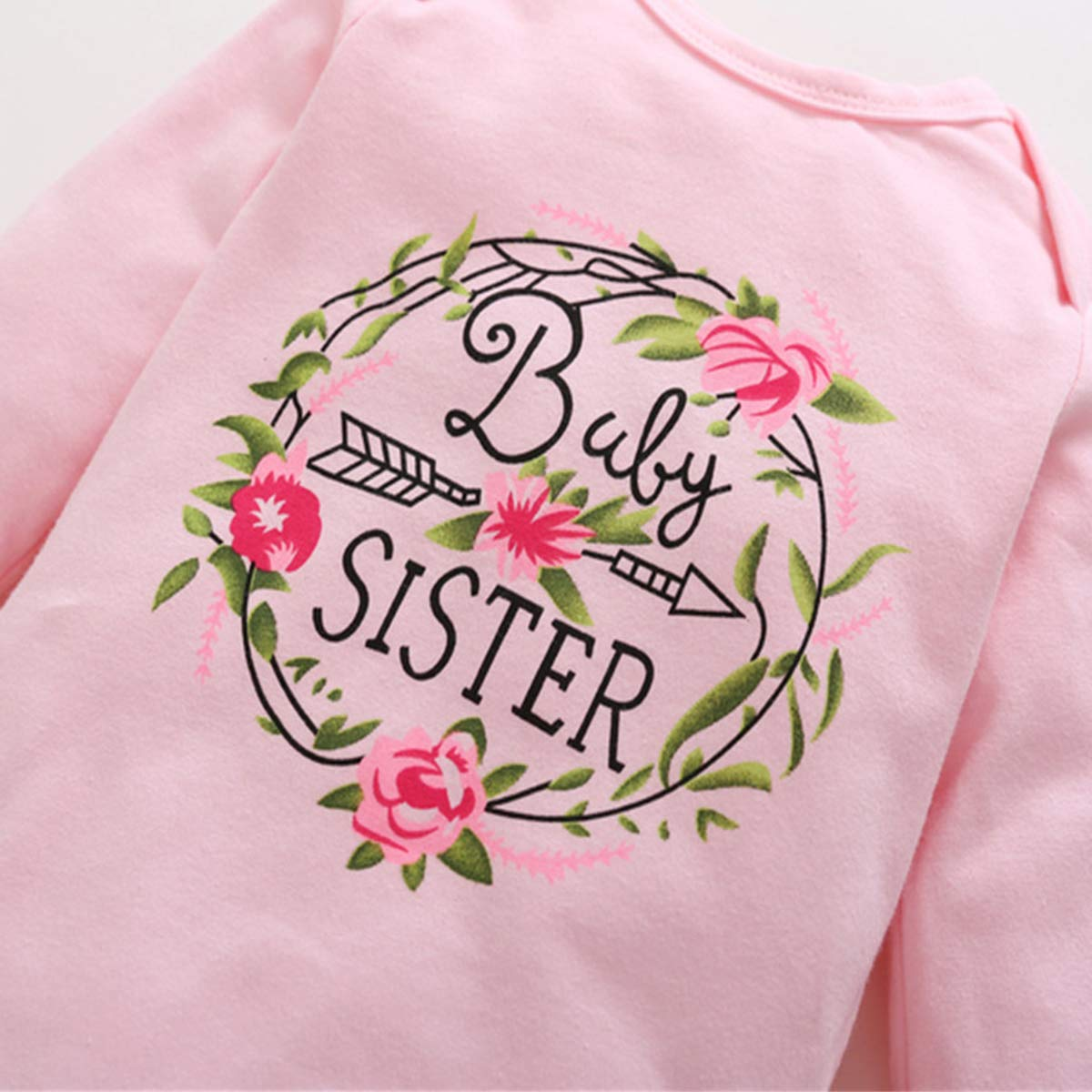 SS COLOR FISH 3 Pcs Halloween Newborn Infant Girl Clothes Baby Sister Little Sister Outfit 3-6 Months