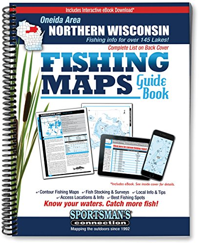 Oneida Area Northern Wisconsin Fishing Map Guide (Fishing Maps from Sportsman's Connection)