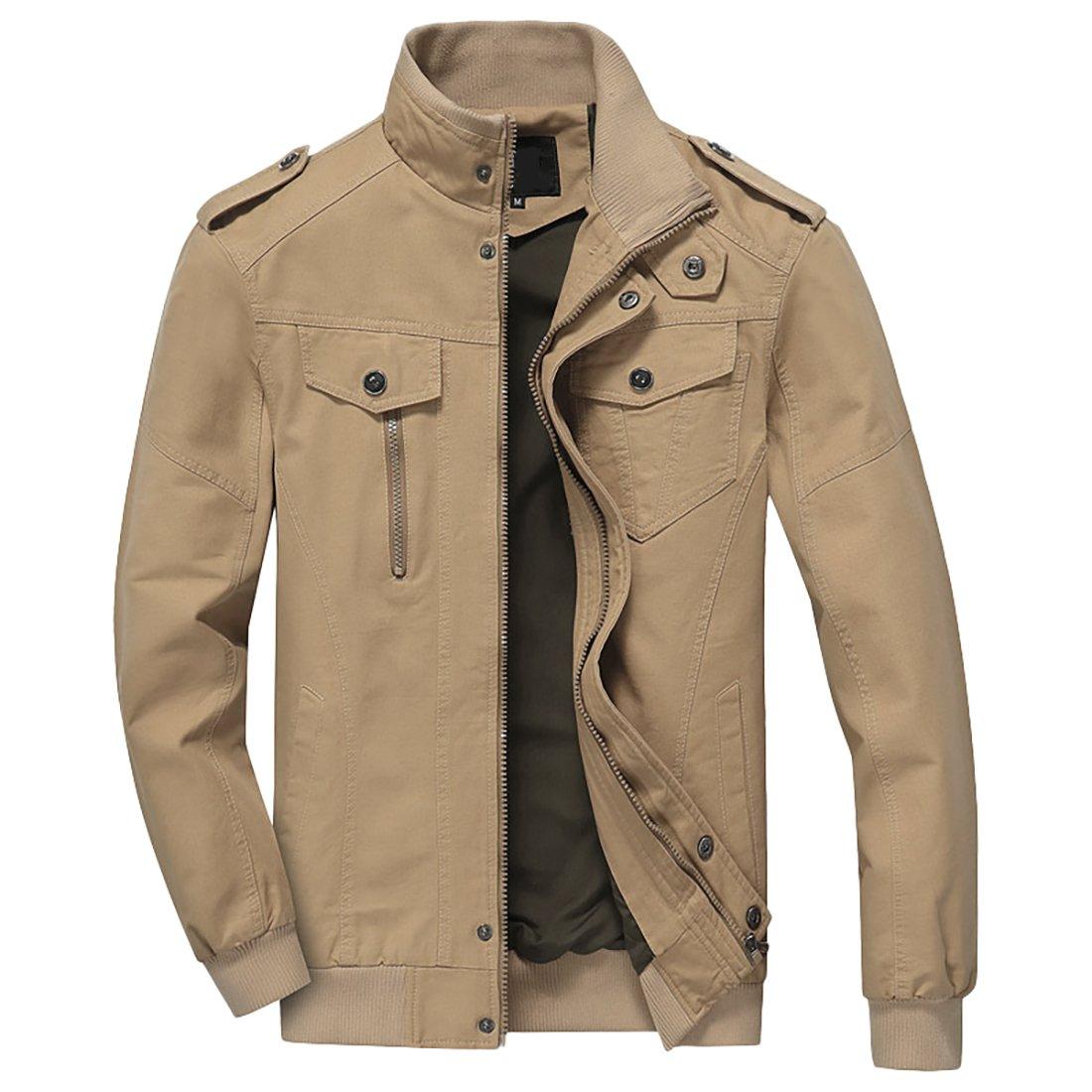 Nantersan Men's Casual Military Jacket Cotton Outdoor Coat Lightweight Windbreaker Jackets by Nantersan
