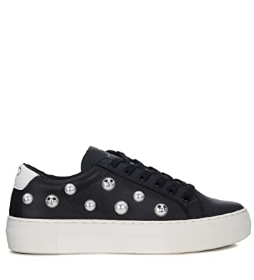 Buy Cheap Collections 100% Original Sale Online MOA MASTER OF ARTS Moa Mickey Mouse Black Leather Sneaker Countdown Package Cheap Price 4Y8sD3LW0