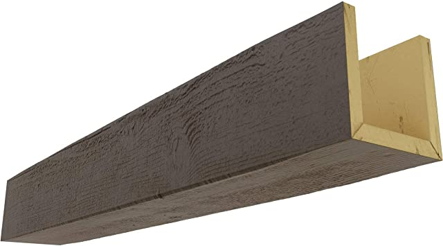 Amazon Com Ekena Millwork Bmrs3c0080x080x240hd 3 Sided U Rough Sawn Endurathane Faux Wood Ceiling Beam 8 W X 8 H X 20 L Natural Honey Dew Home Improvement