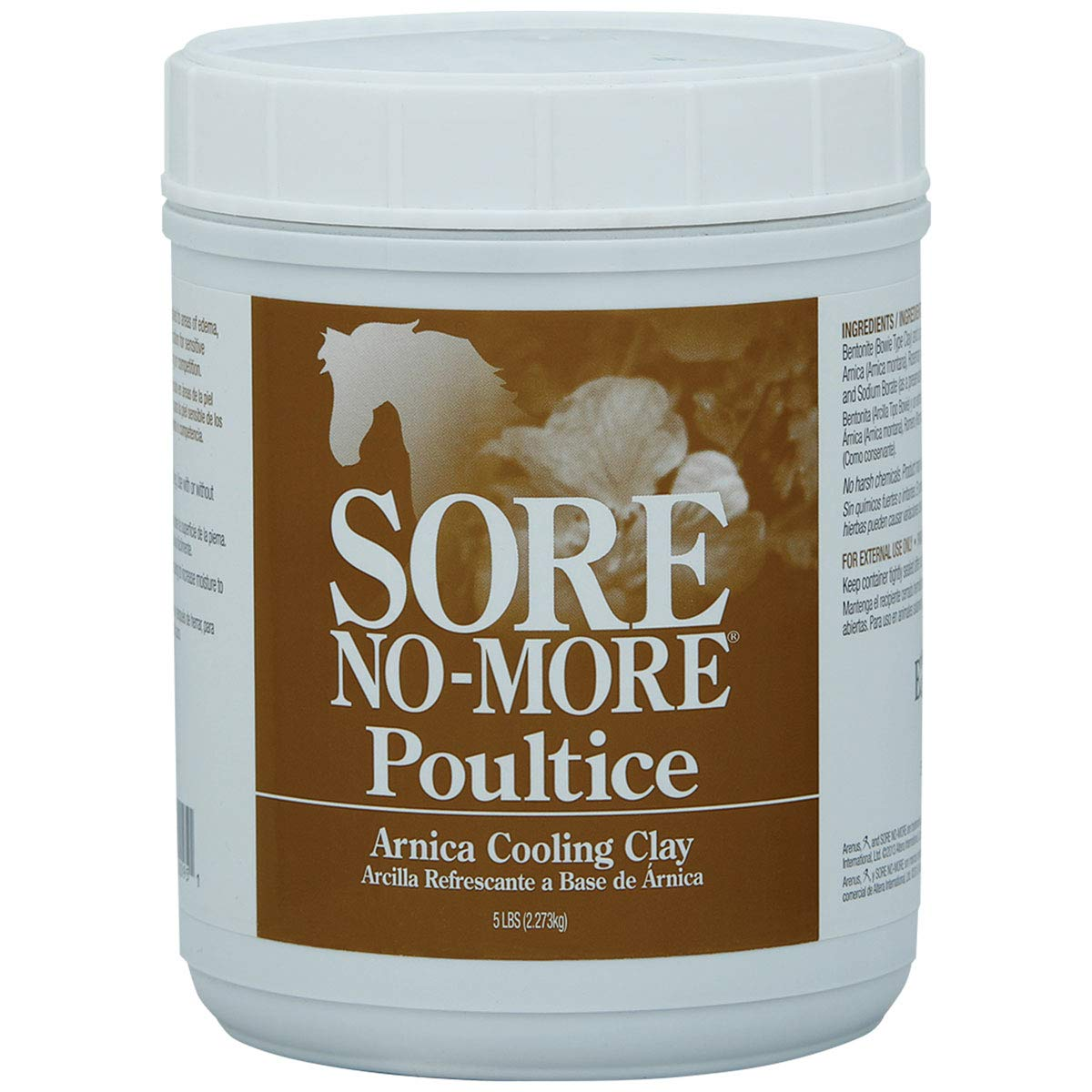 Sore-No-More 5 lb Smooth Non-Irritating Liniment Cool Tight Post-Exercise Poultice Packing Clay