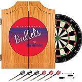 NBA Washington Bullets Wood Dart Cabinet, One Size, Brown