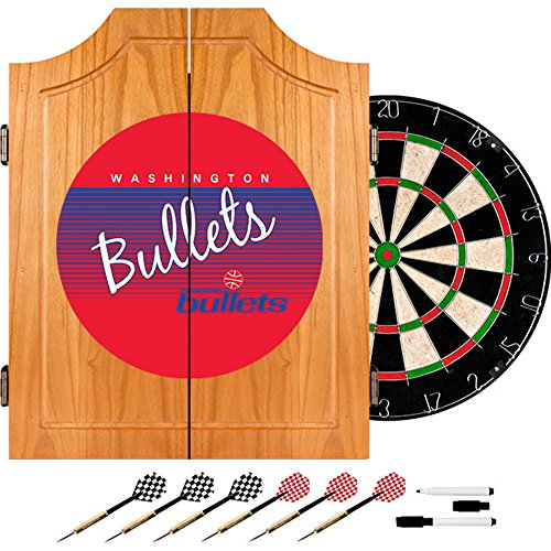 NBA Washington Bullets Wood Dart Cabinet, One Size, Brown by Trademark Global