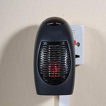 Aibecy 400W Calentador Eléctrico Mini Ventilador Calentador de Escritorio Hogar Oficina Pared Práctico Calentador Estufa Radiador Calentador Máquina para el ...