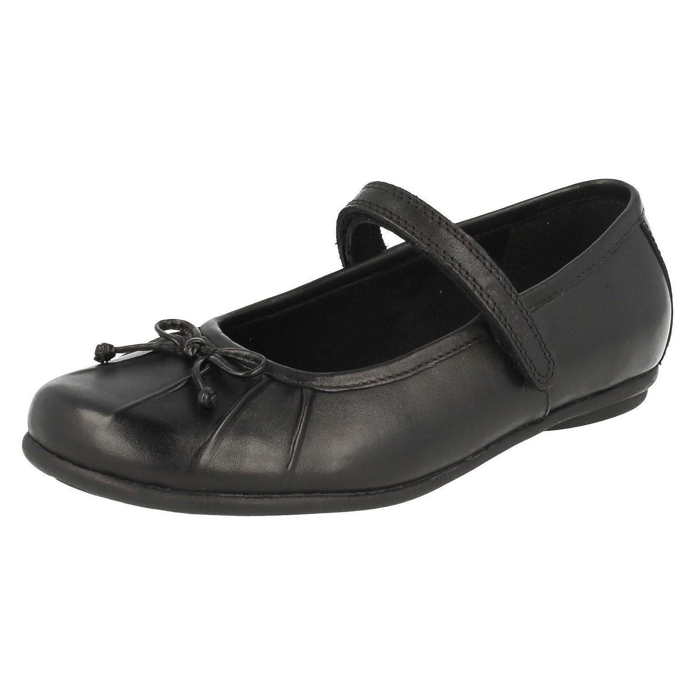 Clarks École de filles de Tasha allié Inf chaussures en cuir noir