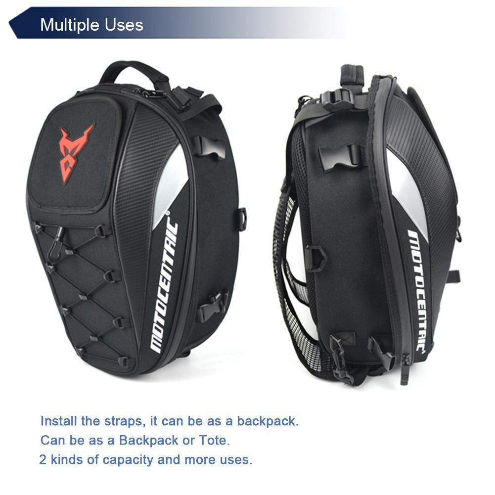 Impermeable Gran Capacidad Mochila de Viaje Impermeable Bolsa de sill/ín de Moto con Espacio para el Casco Mochila de Ciclismo de Moto