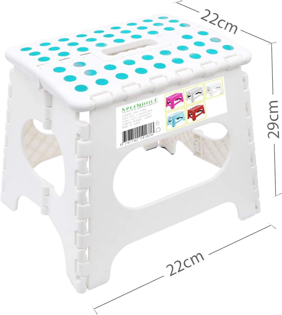 Splendole Small Folding Step Stool 22cm Anti Slip Top Compact ...