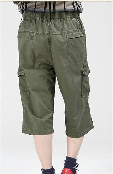 XXBlosom Mens Casual Tactical Mid Rise Multi Pocket Cargo Bermuda Shorts
