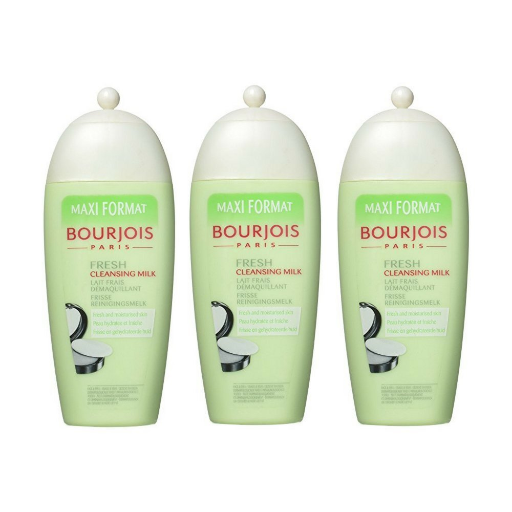 Bourjois Maxi Format Fresh Cleansing Milk for Women, 8.4 Ounce (3 Bottles)