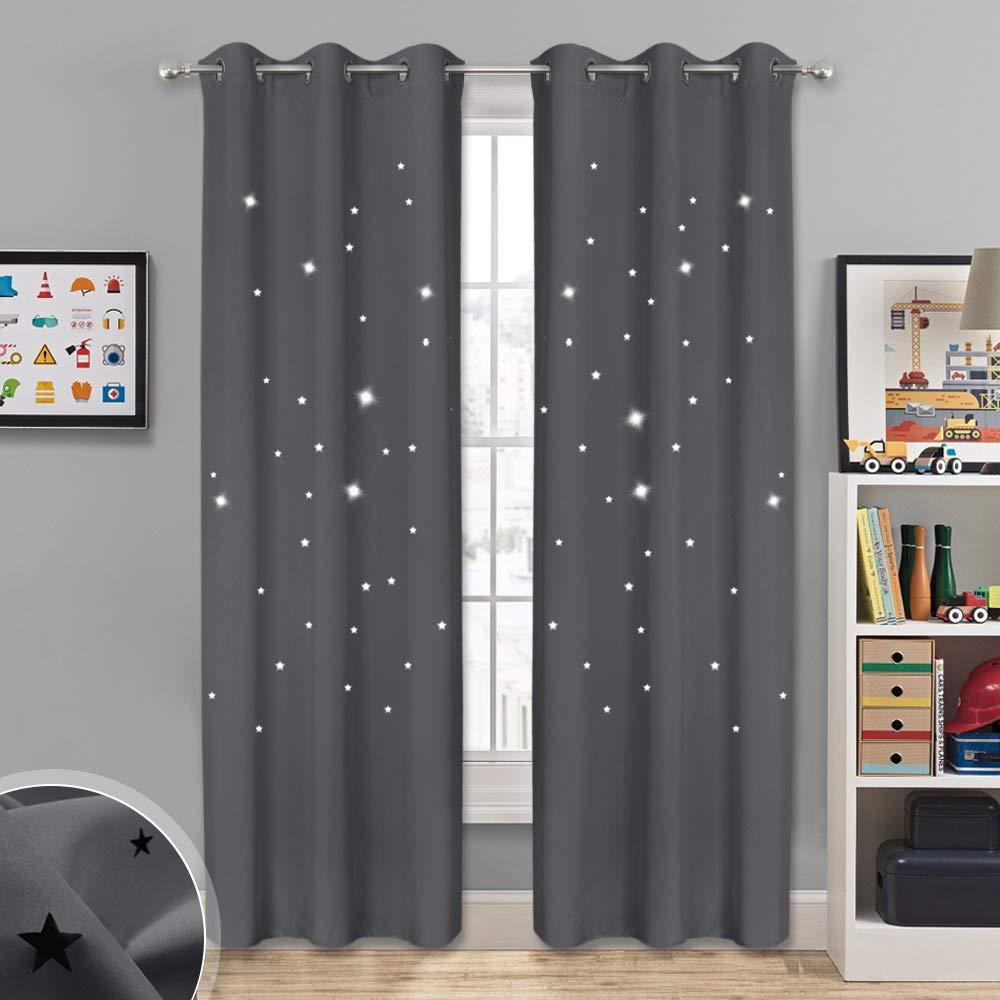 NICETOWN Cortina de habitación infantil inspirada en el espacio ...