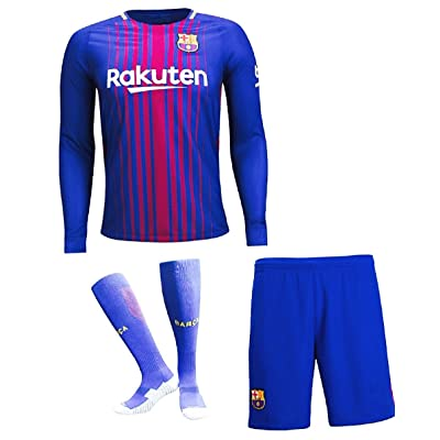 wholesale dealer 025fe b6eff VortX Barcelona Messi Home Navy Blue Long Sleeve 2018 Jersey ...