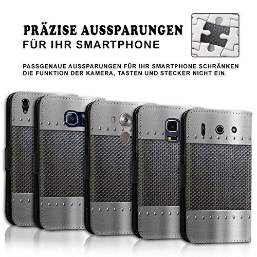 Wallet Book Style Flip Handy Tasche Case Schutz Hülle Schale Motiv Etui für Apple iPhone 6 / 6S - Design Flip MVD57
