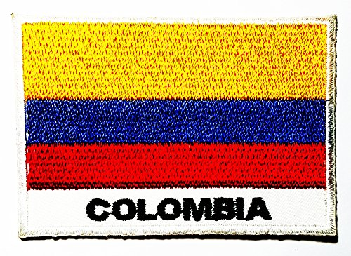 Republic Of Colombia Colombian National Flag Logo Patch Jacket T Shirt Sew Iron On Patch Badge Embroidery