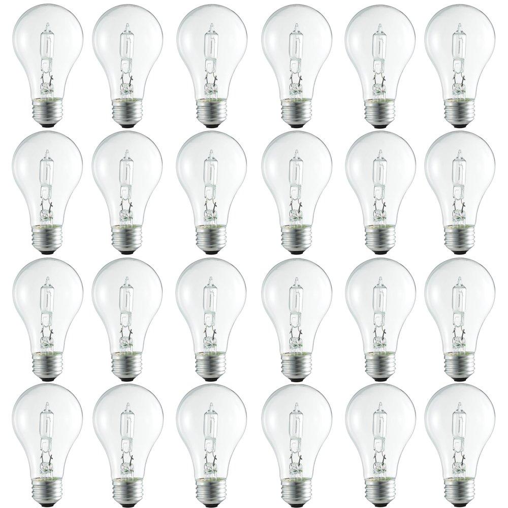 Philips Halogen Clear Dimmable A19 Light Bulb: 2990-Kelvin, 72-Watt (100-Watt Equivalent), Medium Screw Base, Bright White, 24-Pack