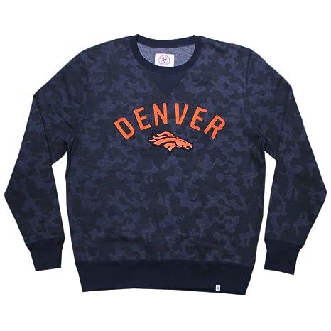 BIG /& TALL DEN Broncos Mens Athletic Pullover Thermal Sweatshirt