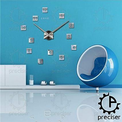 Djkaa Cartas De Amor Cuadrados 3D DIY Reloj De Gran Tamaño ...