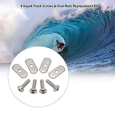 LNNUKc 4 Tornillos de riel de Kayak/riel de Acero Inoxidable y ...
