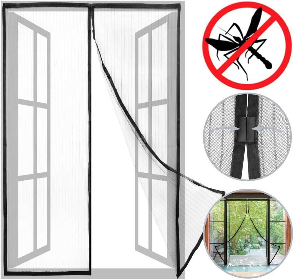 PrimeMatik - Mosquitera para Puerta 100 x 210 cm con Cierre ...