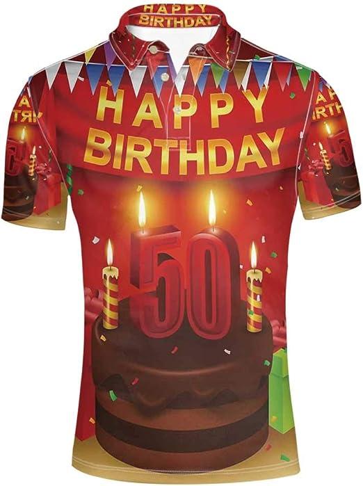 Amazon.com: Decoración de 50 cumpleaños elegante polo camisa ...