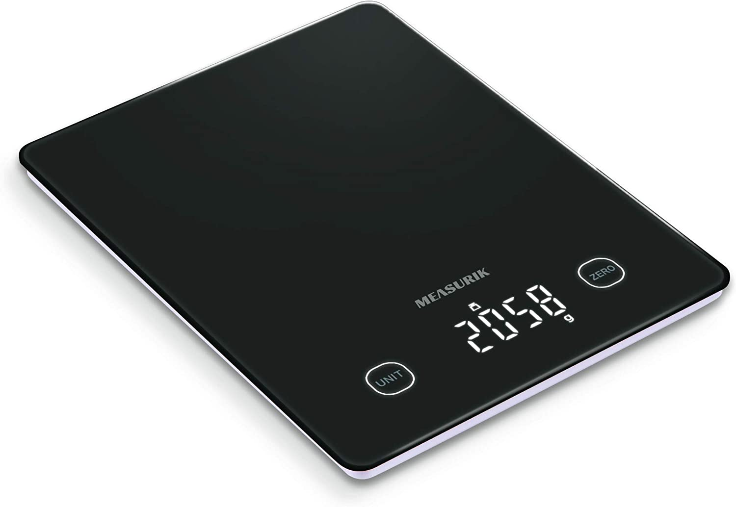 Measurik Digital Food Kitchen Weighing Scale - Multifunction High Accuracy Measurement Cooking Weight Scale Up to 11lb/5kg Weigh Gram/Oz and Milk Volume, Batteries Included
