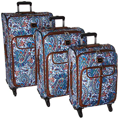 Chaps 3 Piece Luggage Suitcase Spinner Set, Summer ()
