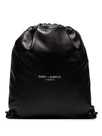 7e7e91adf1 Saint Laurent Homme 5539190Yp0e1000 Noir Cuir Sac À Dos: Amazon.fr:  Vêtements et accessoires