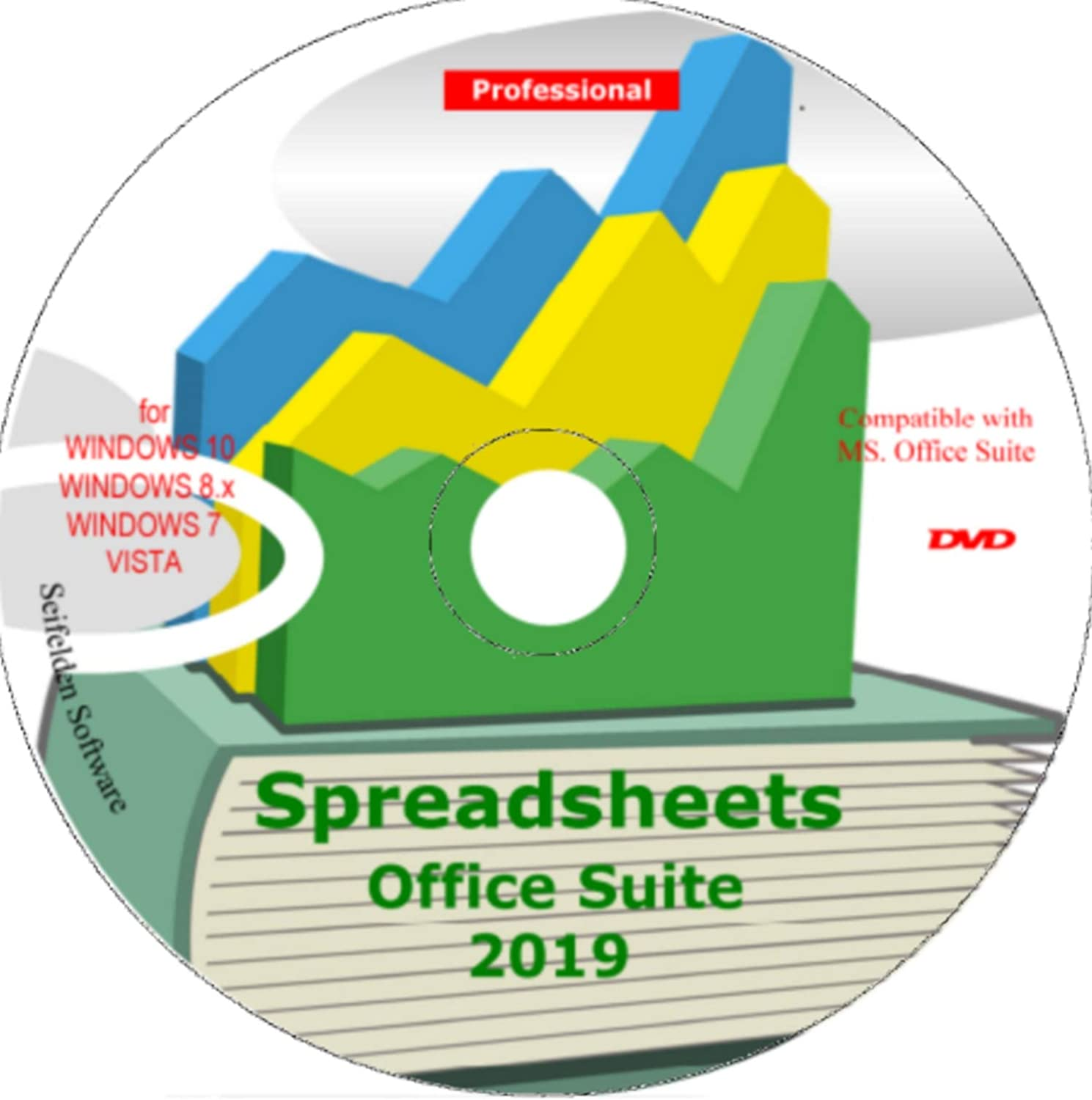 Spreadsheet Excel Office Suite 2019 Works Home Student and Business for Windows 10 8.1 8 7 Vista XP 32 64bit  Alternative to MicrosoftTM Office 2016 2013 2010 365 Compatible Word Excel PowerPoint