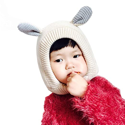 Yehopere Baby Hat Cute Bunny Ears Caps Toddler Earflap Beanie Warm for Fall  Winter 0efc3c46d88
