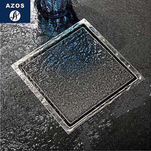 Acero inoxidable SUS304 AZOS Drenaje de piso de sellado de agua profunda Baño de estanque de desagüe Desodorante/drenaje...