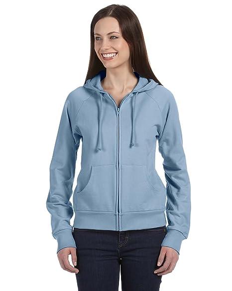 34261e266190da Bella Women s Full-Zip Raglan Hoodie Sweatshirt Pullover B7007 blue XX-Large
