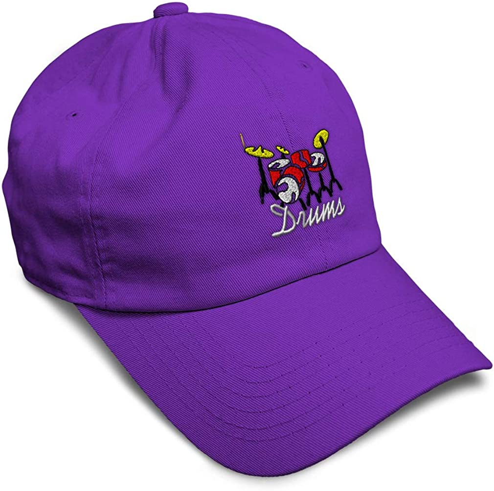 Custom Soft Baseball Cap Drums Embroidery Twill Cotton Dad Hats for Men /& Women