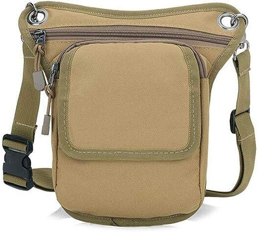 GSCshoe Bolsillo Personalizado Militar Fanny Pack Waist Bag Pack Impermeable Oxford Cadera Bolsa Bolsa Senderismo Escalada Bumbag al Aire Libre Durable (Color : Caqui): Amazon.es: Hogar