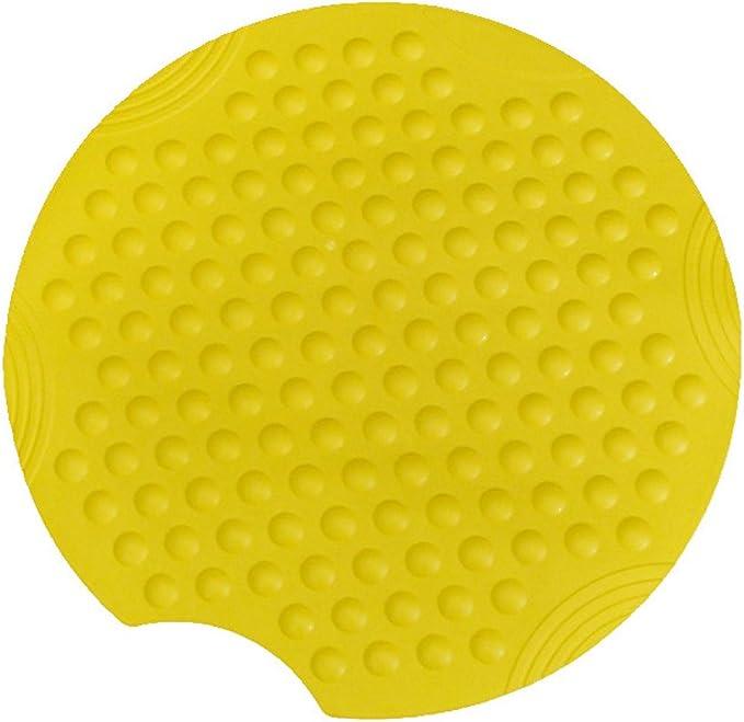 Gelb /Ø54cm Farbe runde Duscheinlage Duschmatte Sicherheitseinlage f/ür die Dusche Modell BUBBLES Gr/ö/ße