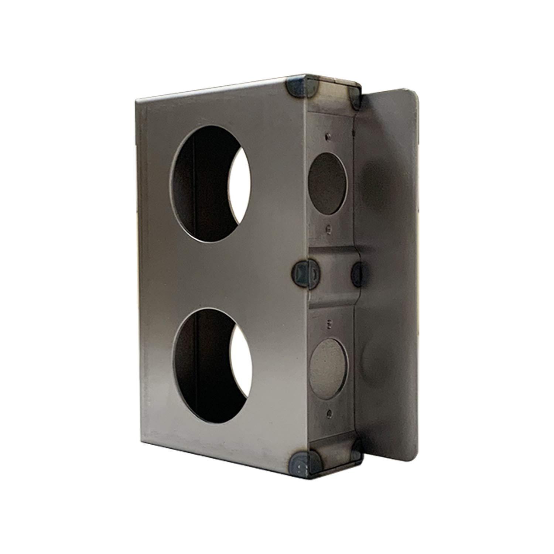 OASIS Gate Lock Box Double Hole 6-3/4'' x 4-1/2'' x 1-5/8'' Weldable Steel lockbox for Gate, Unpainted