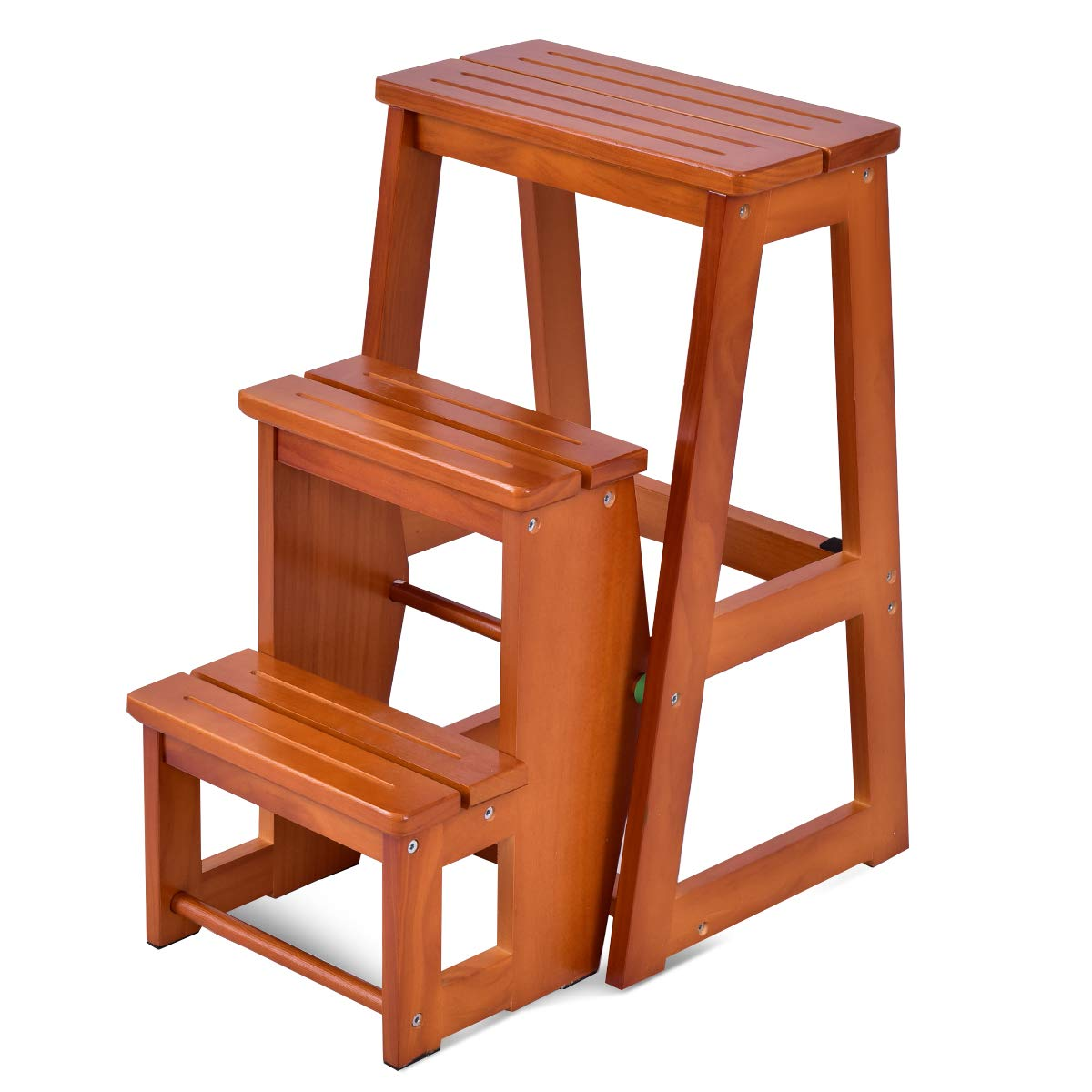 Surprising Giantex 3 Tier Folding Step Stool Multi Functional Ladder Chair Bench Seat Utility Walnut Forskolin Free Trial Chair Design Images Forskolin Free Trialorg
