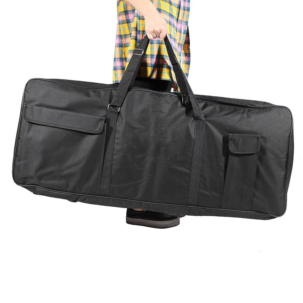 ammoon 61-Key Keyboard Electric Piano Organ Gig Bag Soft Case Dual Zipper 39.3'' * 15.7'' 600D Cloth PE Foam Padded