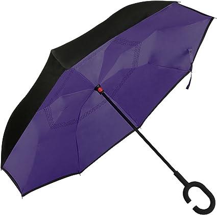 Golden Lemur Parapluie Pliant Automatique pour Homme et Femme Bagage Cabine Garantie de Qualit/é Anti Retournement UV Parapluie Temp/êt Anti Vent Original de Couleures Parapluie Voiture Resistant