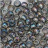 Toho Round Seed Beads 6/0#176 'Transparent Rainbow Black Diamond' 8 Gram Tube