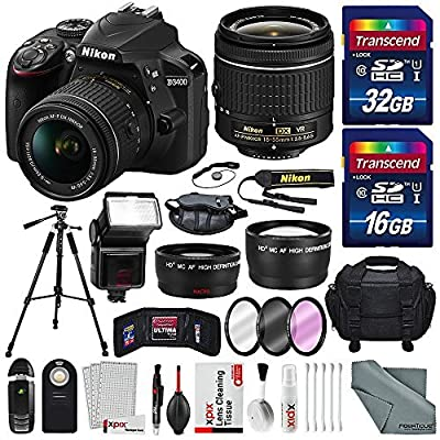 Nikon D3400 along with Deluxe Accessories Bundle