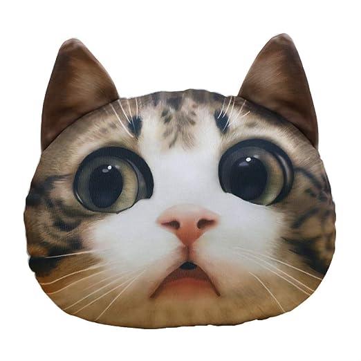 Ylout Creativo Gato 3D De Peluche De Juguete 36 Cm , Almohadas Rellenas Simulación De Dibujos Animados Juguetes para Gatos Almohada De Coche Cojín Regalos para Niñas Regalos para Niños: Amazon.es: Productos