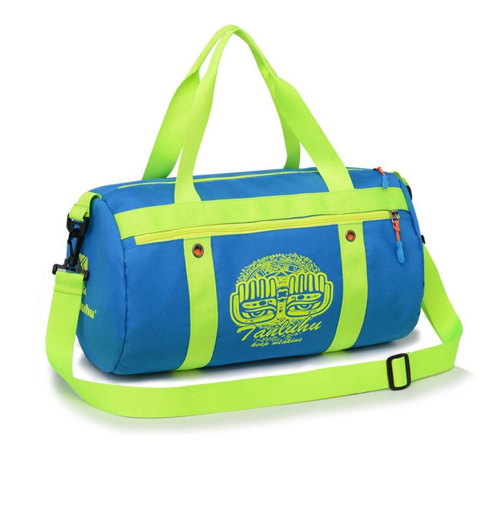 2017snowダンスDuffle Bag for Girlsスポーツジムバッグレディースキャンディカラー B07BSJ6FD2 ブルー
