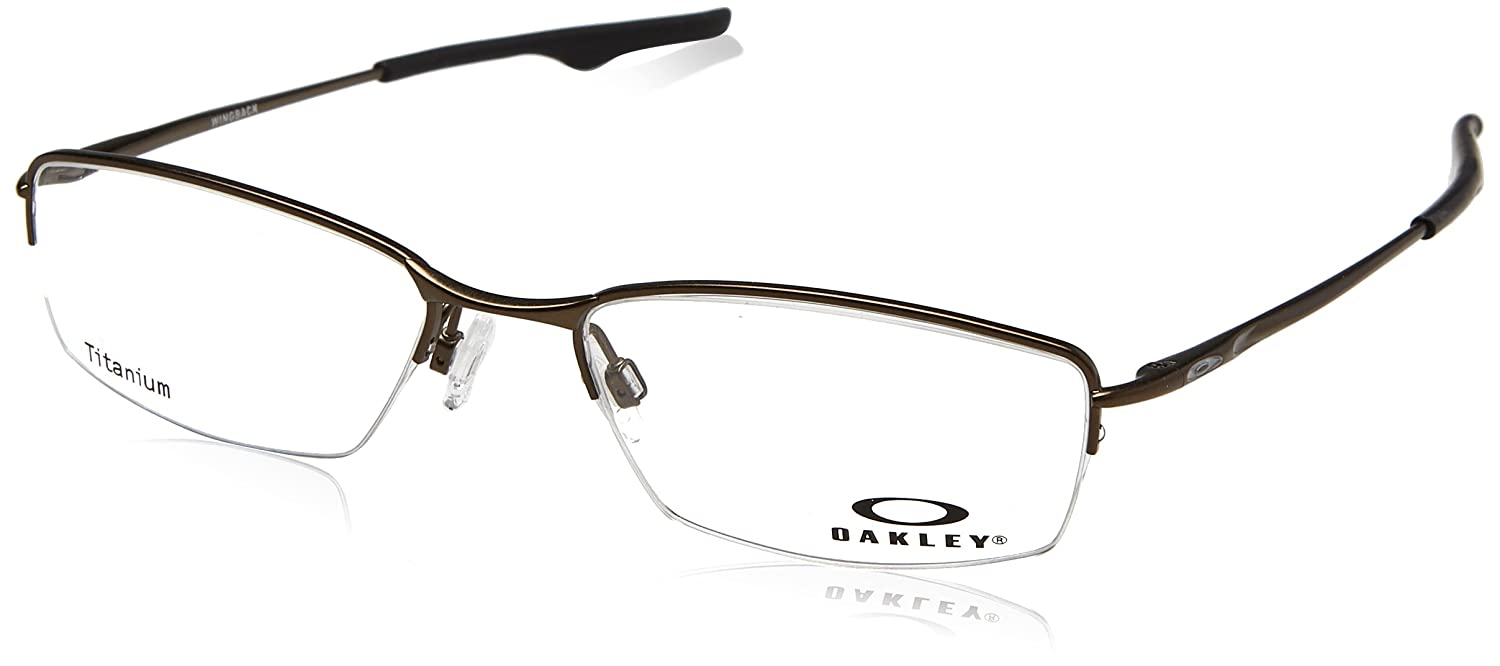 c5b31ddf1f4 Oakley Wingback OX5089-0553 Eyeglasses Pewter Clear Demo 53 18 at Amazon  Men s Clothing store