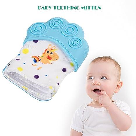 Baby Mitt Teething Mitten Silicone Glove Gum Safe BPA Chew Dummy Toy Teether UK