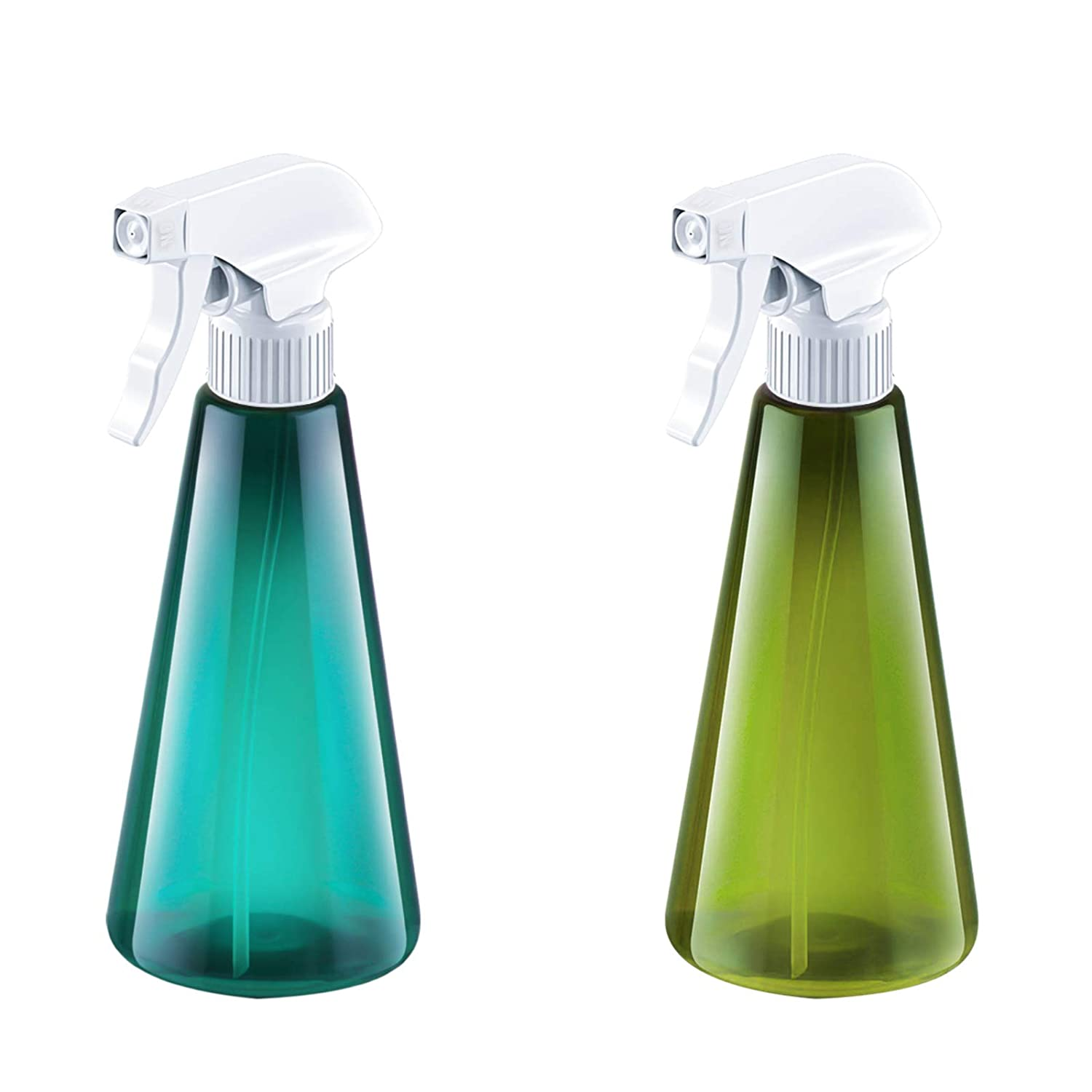 Plant Mister Spray Bottle, Mist Spray Bottle for Cleaning Solution Gardening Trigger Water Empty Sprayer 16oz Refillable Container,Durable Trigger Sprayer w/Mist and Stream Settings (2 Pack)