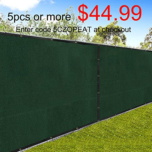 Outdoor Patio Privacy Fence Screen 6x50 Yard Windscreen Chain Link Fencing  Cover Materials With Brass Grommets Landscape ...
