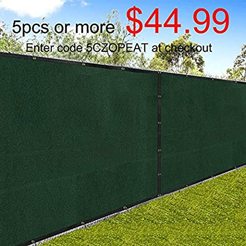 Amagabeli Fence Privacy Screen 6x50 for Chain Link Fence Fabric Screening with Brass Grommets Outdoor 6ft Garden Patio Porch Construction Site Fencing 90% Blockage Shade Tarp Mesh UV Resistant - Chain Link Wire
