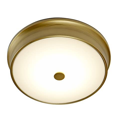 11 abbey frosted white glass bright led flush mount ceiling light 11quot abbey frosted white glass bright led flush mount ceiling light with aged brass accent aloadofball Choice Image