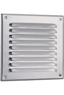 Wei/ß Abluftgitter mr3015 L/üftungsgitter 300x150mm Wetterschutzgitter mit Insektenschutz aus Stahlblech